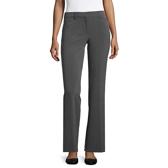 Star City Clothing Womens Mid Rise Bootcut Workwear Pant-Juniors