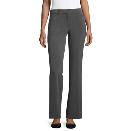 Star City Clothing Womens Mid Rise Bootcut Workwear Pant-Juniors, 19 , Black