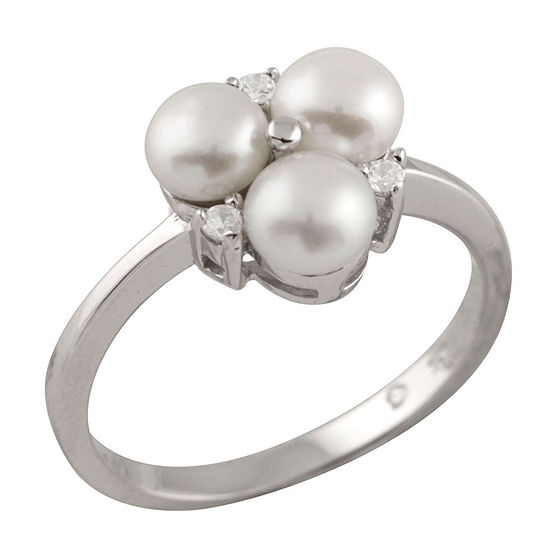 Womens 2mm 5mm White Cultured Freshwater Pearl Band