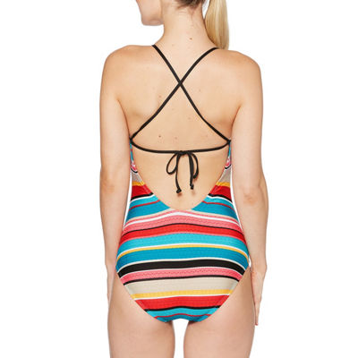 Coastal Zone By Jantzen Stripe One Piece Swimsuit