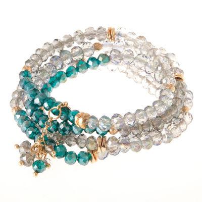 Natasha Accessories Womens Multi Color Stretch Bracelet