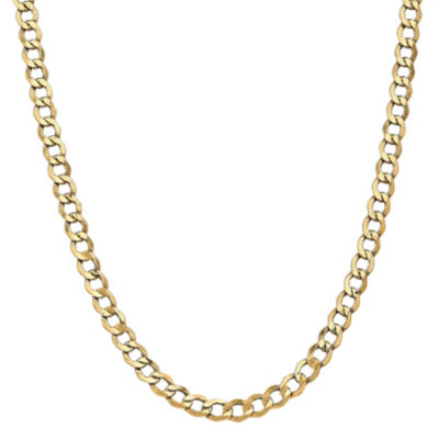 14K Gold Semisolid Curb 18 Inch Chain Necklace
