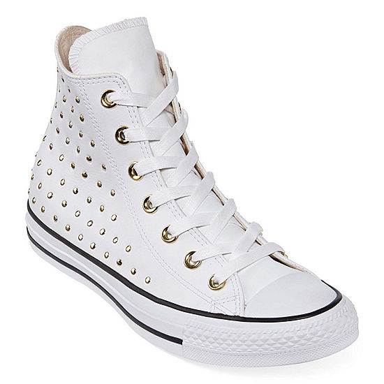 fb160270c378 Converse Ctas Leather Stud Hi Womens Sneakers JCPenney