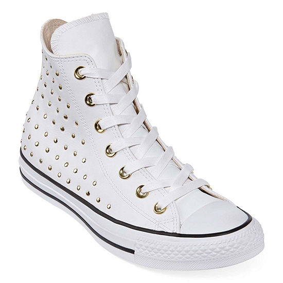 771e31f58b0d Converse Ctas Leather Stud Hi Womens Sneakers JCPenney