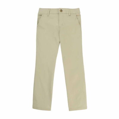 French Toast Girls Mid Rise Straight Flat Front Pant-Big Kid Plus