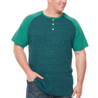 The Foundry Big & Tall Supply Co. Mens Short Sleeve Henley Shirt-Big and Tall