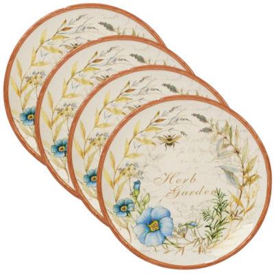 Certified International Herb Blossoms 4-pc. Dinner Plate