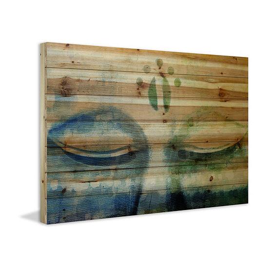 Meditation Painting Print on Natural Pine Wood
