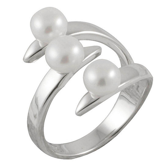 Womens 3mm 5mm White Cultured Freshwater Pearl Band