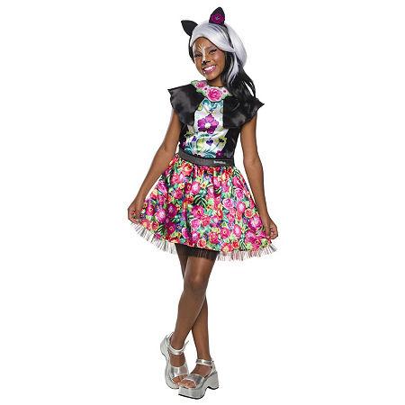 Enchantimals Sage Skunk Girls Costume, Medium , Multiple Colors