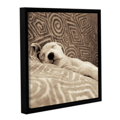 Dog Tired Floater-Framed Gallery Wrapped Canvas