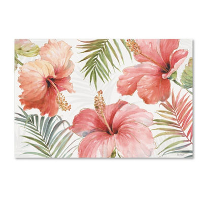 Trademark Fine Art Lisa Audit Tropical Blush I Giclee Canvas Art