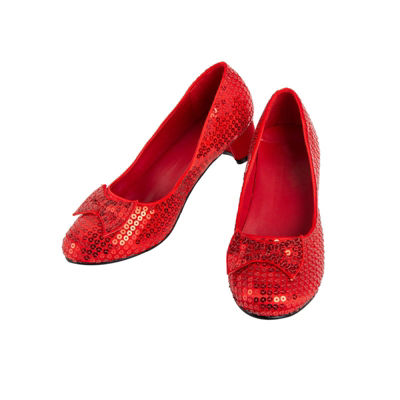 Red Sequin Child Pump
