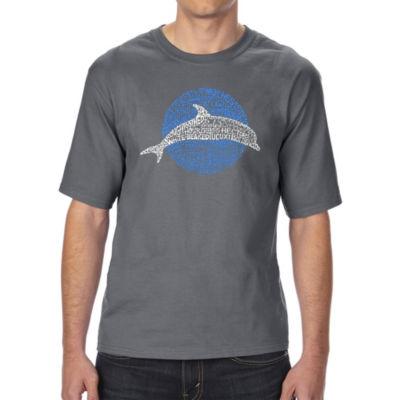 Los Angeles Pop Art Boy's Raglan Baseball Word Art T-shirt - Slasher Movie Villians