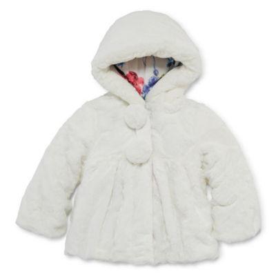 S Rothschild Midweight Faux Fur Jacket - Toddler Girls