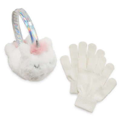 Capelli of N.Y. Unicorn Earmuffs and Glove Set-Girls