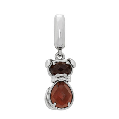 PS Personal Style Simulated Topaz Sterling Silver Dog Charm