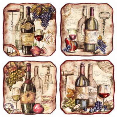 Certified International Vintners Journal 4-pc. Dinner Plate