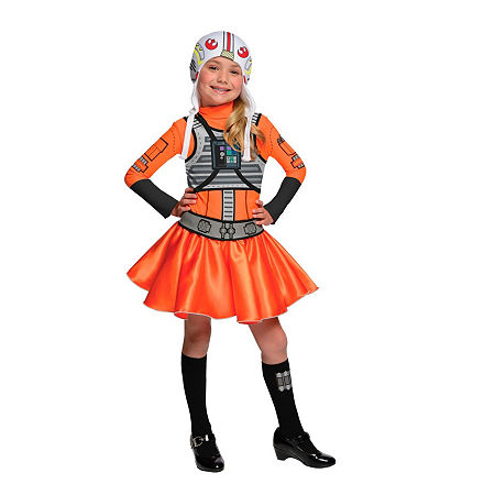 Star Wars Girls X-Wing Fighter- Girl Costume, Medium , Multiple Colors