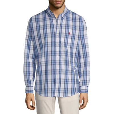 U.S. Polo Assn. Long Sleeve Plaid Button-Front Shirt