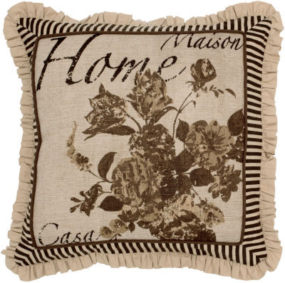 Rizzy Home Ryker Floral Decorative Pillow