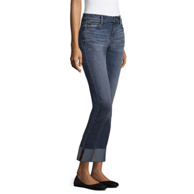a.n.a Wide Cuff Straight Jeans