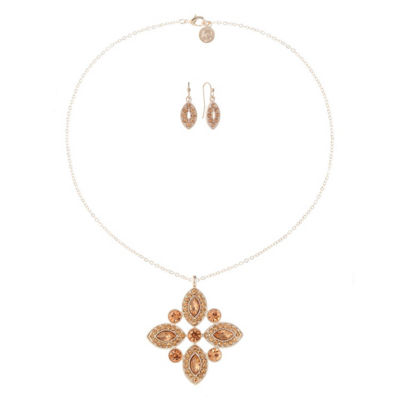 Liz Claiborne Pink Rose Tone 2-pc. Jewelry Set
