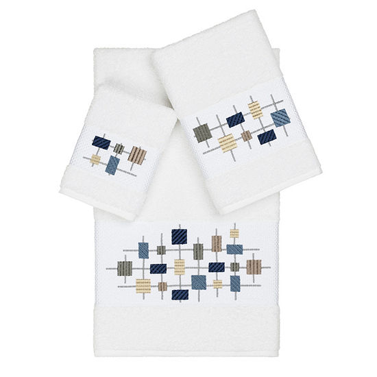 Linum Home Textiles 100% Turkish Cotton Khloe 3PC Embellished Towel Set