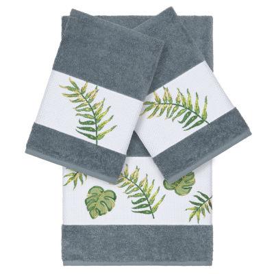 Linum Home Textiles 100% Turkish Cotton Zoe 3PC Embellished Towel Set