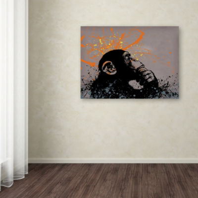 Trademark Fine Art Banksy The Thinker Giclee Canvas Art