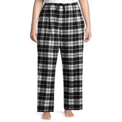 Sleep Chic Flannel Pajama Pants-Tall