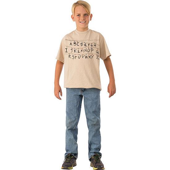 Stranger Things-Childrens Alphabet Shirt Costume