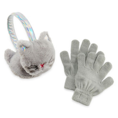 Capelli of N.Y. Cat Earmuffs and Glove Set- Girls