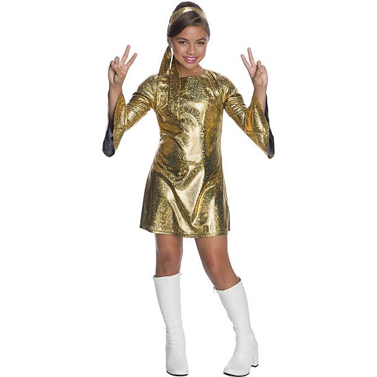 Girls Hologram Disco Diva Costume Girls Costume