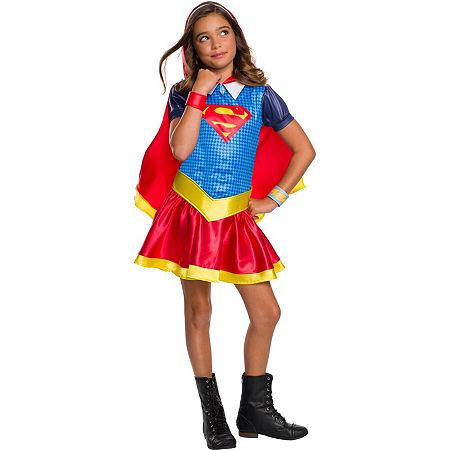 Dc Super Hero Girls Supergirl Hoodie Dress, Large , Multiple Colors