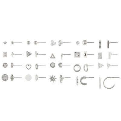 Decree Clear 9mm Stud Earrings