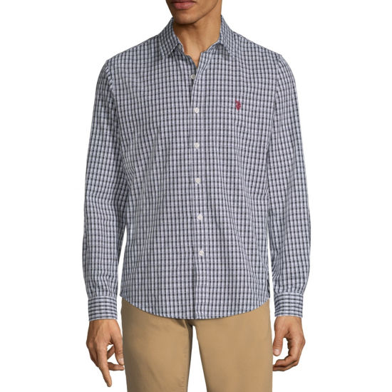 U.S. Polo Assn. Long Sleeve Plaid Button-Front Shirt-Slim
