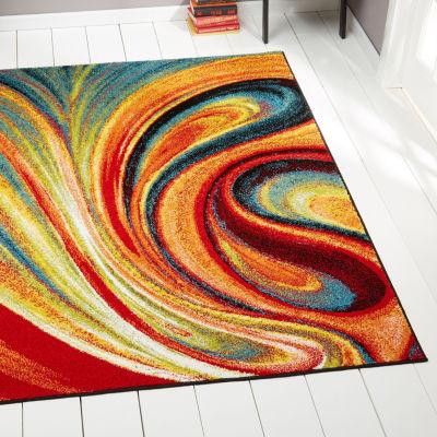 Home Dynamix 3-Piece Splash Adja Abstract Rectangular Rug Set