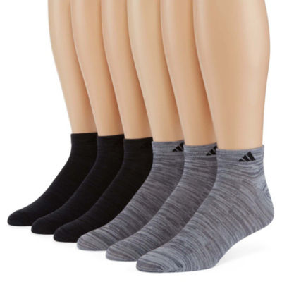 adidas 6 Pair Low Cut Socks-Mens