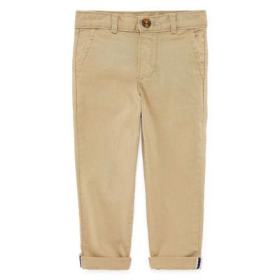 Okie Dokie Flat Front Pants-Toddler Boys