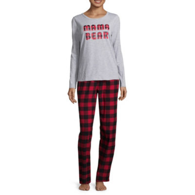 North Pole Trading Company Plaid Mama Bear 2 Piece Set -Women's