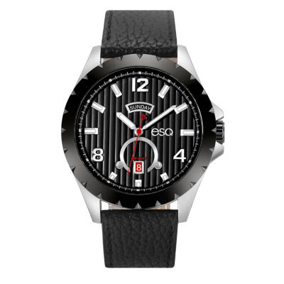 Esq Mens Black Strap Watch-37esq007301a