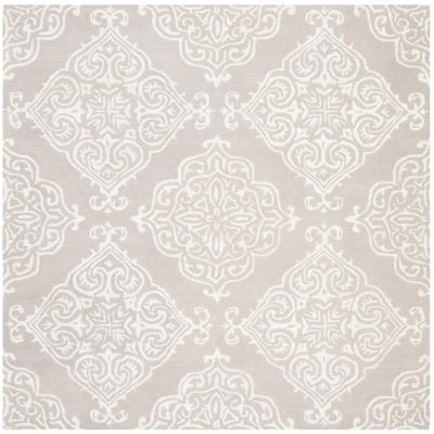 Safavieh Glamour Collection Aubrey Damask Square Area Rug