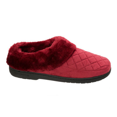 Dearfoams Velour Furry Clog Slippers