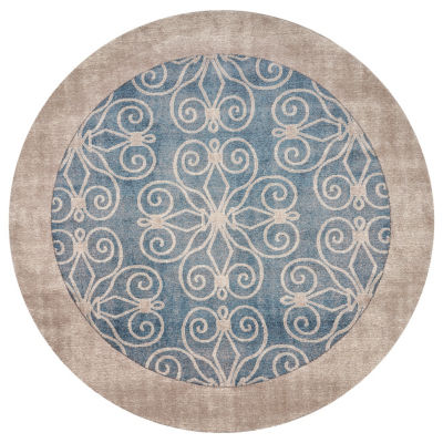Winston Glass By Libby Langdon Round Rugs