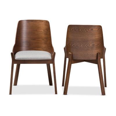 Baxton Studio Rye 2-Piece Dining Chair Set