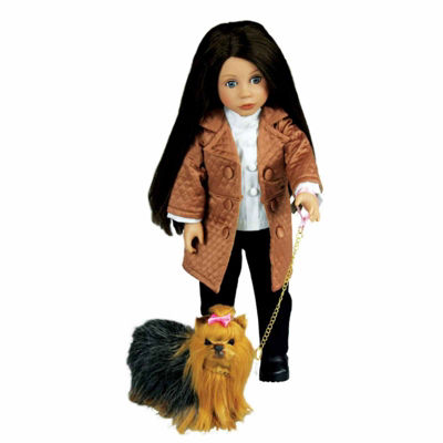 The Queen's Treasures Adorable Yorkie Puppy Pet 18Inch Accessory