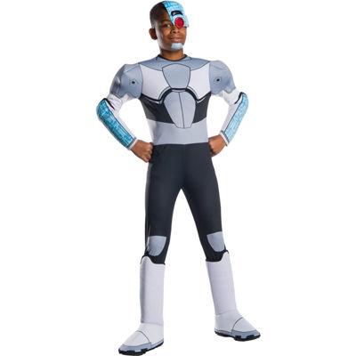 Teen Titan Go Movie Boys Deluxe Cyborg Costume