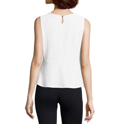 Liz Claiborne Lace Peplum Top - Tall