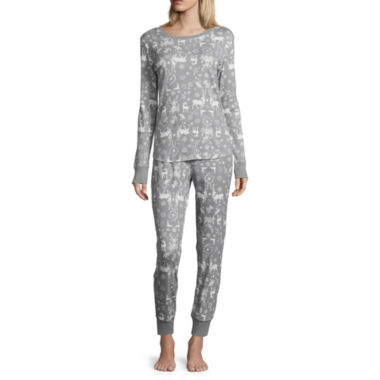 Womens North Pole Trading Co. 2-pc. Pant Pajama Set
